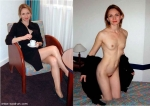Woman dressed & undressed. Part 2