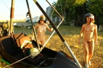 Margarita S, Eva 2 - First flight on a trike